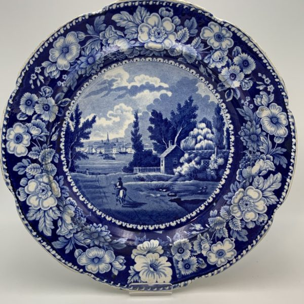 New York from Brooklyn Heights, Historical Blue Plate
